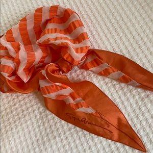 Giorgio Armani silk bandana embroidery signature